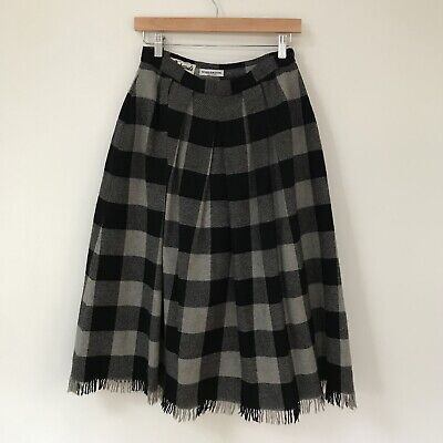 Windsmoor Womens Skirt, Size XS, Wool Pleated Plaid Classic Britain VTG RARE