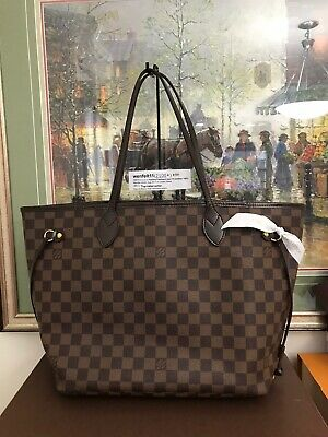 ❤ Louis Vuitton ❤Neverfull MM❤ Damier Ebene LV Tote 100% Auth NFMM