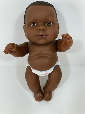 "10"" Berenguer Lots to Love Chubby African American Baby Boy Doll in Diaper"