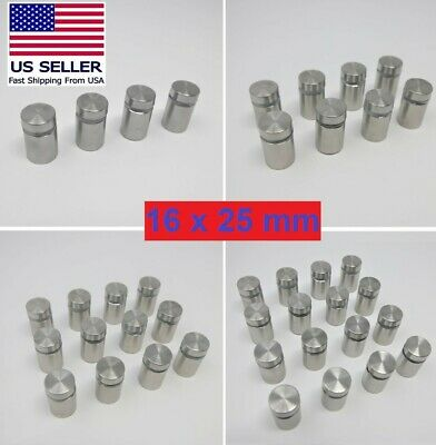 Glass & Sign Wall Standoff Screws 16 x 25 mm**Stainless Steel**US SELLER**