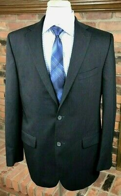 Jack Victor SAVILE ROW GOLD Wool 44L 2-Button Charcoal Sport Coat Jacket