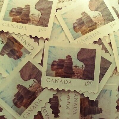 50 Canada uncancelled $1.90 used postage stamps