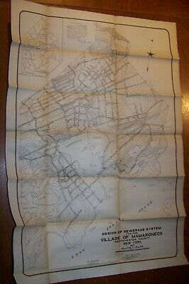 1900 Antique Village Mamaroneck Ny Sewer Map Westchester