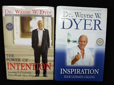 Dr. Wayne Dyer LOT of 2 Hardcover Books The Power of Intention + Inspiration