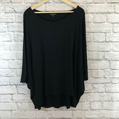 Eileen Fisher Size X-Large Blouse Tank Top Shirt Black Stretch Womens READ