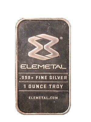 1oz Silver Bullion Bar .999 Elemental