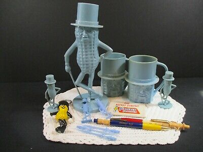 Mr. Peanut Blue Plastic Figure Lot