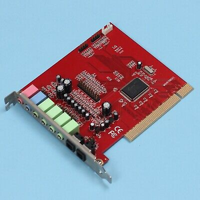 C-Media CMI8768 8Ch PCI Sound Card with Game Port & Optical In/Out