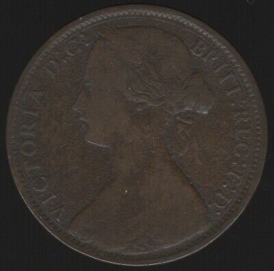1870 Victoria One Penny | British Coins | Pennies2Pounds
