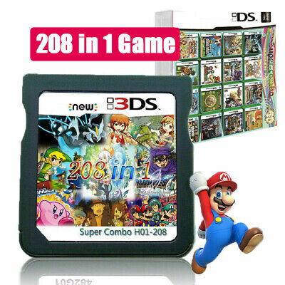 AU Video 208 in 1 Game Card Cartridge Multicart  DS NDS NDSL NDSI 2DS 3DS XL/LL