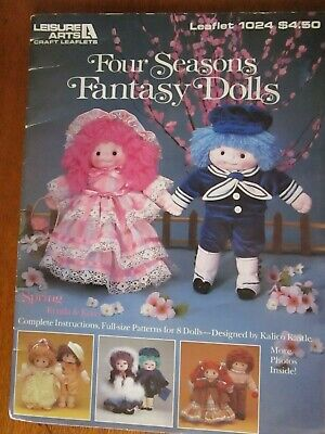 Four Seasons Fantasy Dolls. Full Size Patterns For 8 Dolls By Kalico Kastle