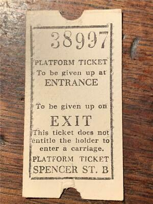 Old Platform ticket not carriage Spencer Street A Melbourne Victorian Railways