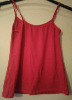 Ladies Size 10 Marks and Spencer red Lace Strappy Camisole Top