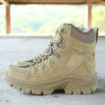 2020 Mens Hiking Shoes Military Soldiers Tactical Desert Training Workwear Boots