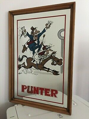 "Vintage Weg Bar Framed Mirror ""Punter"""