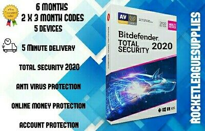 Bitdefender Total Security 2020 (5PC/6MONTH / 180 DAYS) Website Key Code PC MAC