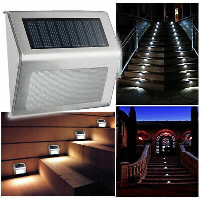 Solar Garden Deck Lights Outdoor Waterproof for Stair Wall Patio Yard Path Fence