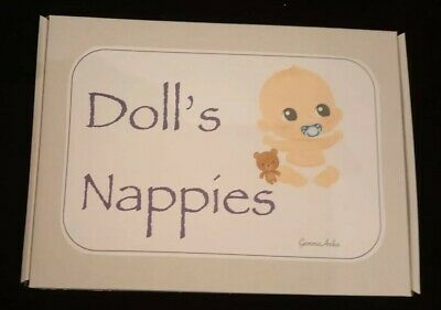 4 Dolls Nappies. Gift Boxed