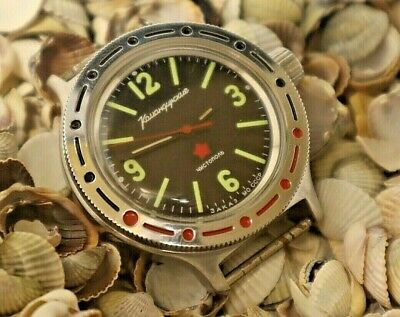 WATCH VOSTOK 2416-automatic-amphibian 200m stainless steel COMMANDER USSR 0834