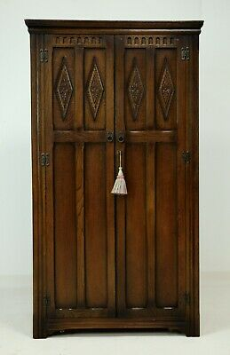Old Charm Wood Bros Double Wardrobe Light Oak FREE Nationwide Delivery*