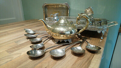 Job lot of silver plated & EP Items