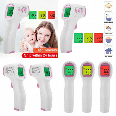 Forehead Non Contact Baby Thermometer Infrared LCD Body Digital IR  Baby Adult