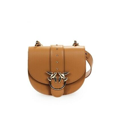 Women's Accessories Pinko Leather Go-Round Classic Simply Crossbody Bag SS 2020