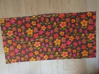 Unused Vintage/Retro 60's/70's/Mid Century Fabric cotton oranges and green .
