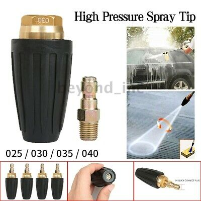 """1/4"""" Disinfectant High Pressure Washer Rotating Turbo Spray Nozzle Tips 3600PSI"""