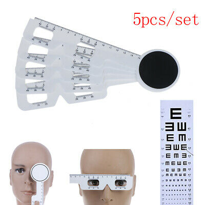 5Pcs/set Optical Pupil Distance Ruler Ophthalmic PD Meter Eye instrument Rule B9