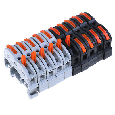 10set LAS--211 1 Pin Din Rail Compact Cable Wiring Connector Terminal Block.B9