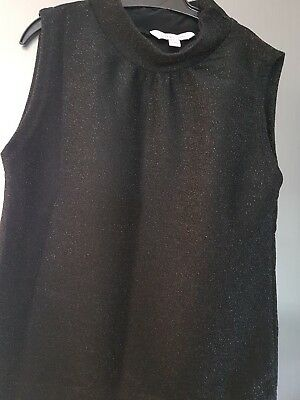 Age 9-10 girls black sparkly top