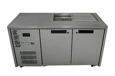 Opal Two Door Stainless Steel Under Counter Storage Refrigerator - HO2UFB