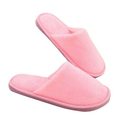 Men Women Soft Warm Indoor Slippers Cotton Sandal House Home Anti-slip Shoes