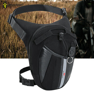 Hot Men Oxford Motorcycle Rider Leg Bag Hip Drop Belt Bum Waist Fanny Pack Purse