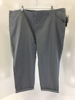 Lee Women's Mid Rise Cropped Pants Boulder Gray Size 22W Nwt