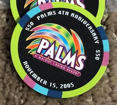PRICE DROP!!!  $ 50 Playboy Casino Chip 4th  Anniversary Las Vegas Palms