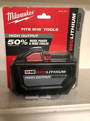 NEW Milwaukee M18 18-Volt Lithium-Ion High Output Battery Pack 12.0Ah 48-11-1812
