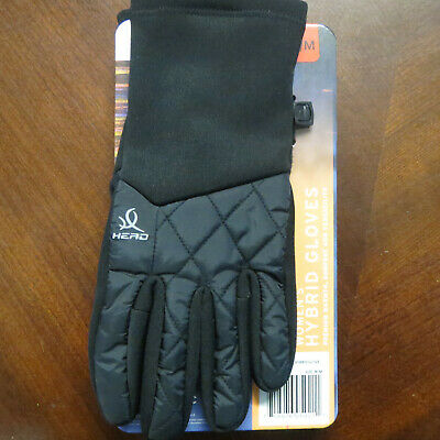Head Women's Hybrid Cold Weather Running Gloves Size Medium Black~NEW WITH TAGS~