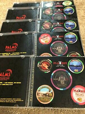 $ 190 Playboy Casino Palms Casino Commemorative 50th Anniversary Set - Rare!
