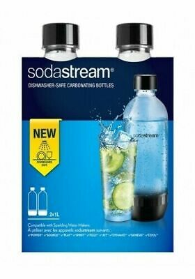 SodaStream 2270071 1000ml Plastica Nero Trasparente borraccia Set 2 Pz