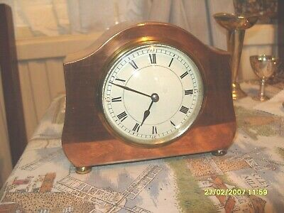mantel  clock COPPER  CASED  FRENCH MOVEMENT  CLOCK WORKING  PLATFORM BALANCE