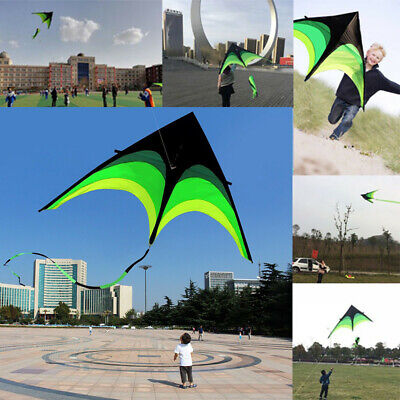 63in Super Huge Kite Line Stunt Kites Outdoor Fun Portable Folding Sport Kid Toy