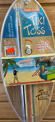 Tiki Toss Hook and Ring Toss Deluxe Game - 100% Bamboo Only 5 Minutes to Setup