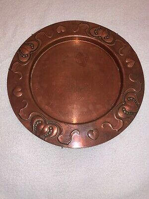 Antique Art Nouveau Copper Tray by Joseph Sankey & Son Stunning Arts & Crafts