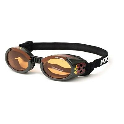 SUNGLASSES FOR DOGS by Doggles - RACING FLAMES WITH ORANGE LENS - XL