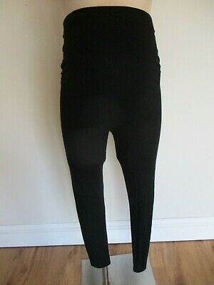 Next Maternity Black Over Bump Full Length Leggings Size 12