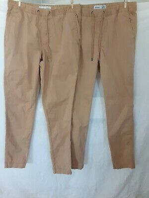 Lot of 2 pairs Old Navy Boys Tan Pants Sz S  Built In Flex Chino Relaxed