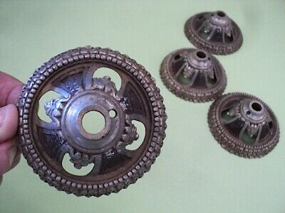 4 Round Metal Victorian Home Bezels Towel Rack, Curtain Rods or What?