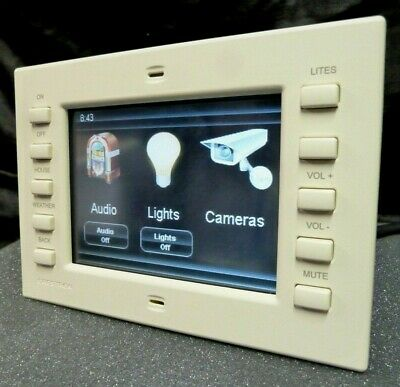 "Crestron TPS-2000L 5"" Color LCD In-Wall Touch Screen Panel Very Good Condition"